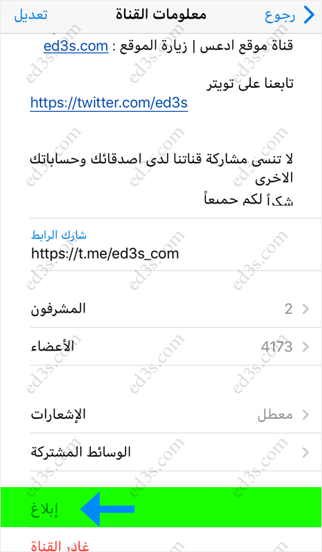 Rating: report fraudulent telegram channel