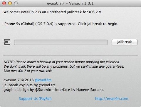 تحديث اداة الجيلبريك Evasi0n7 v1.0.1 لنظام iOS 7