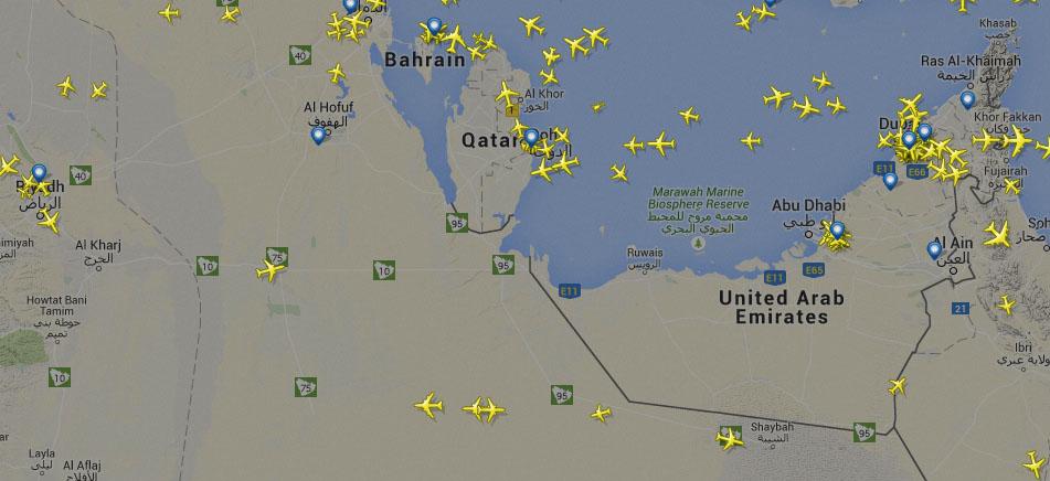 موقع Flightradar24 راداد للطائرات التي تحلق الآن