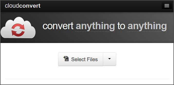 CloudConvert خدمة تحويل اي شئ تريده