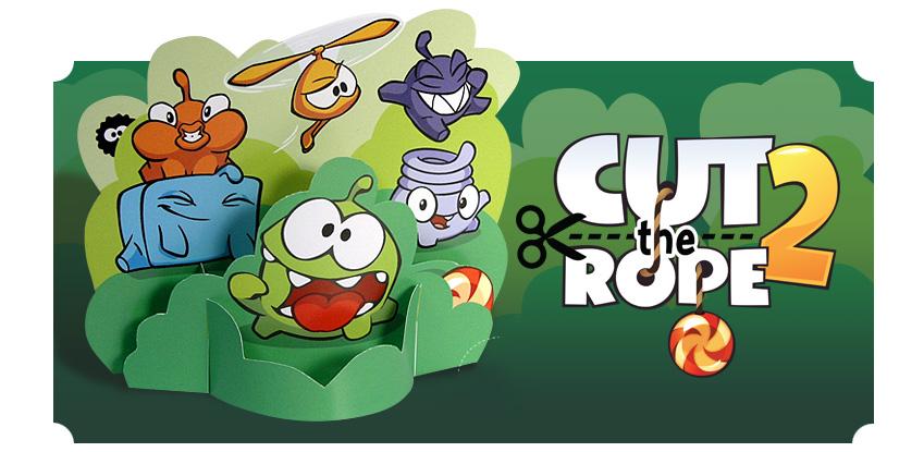 الجزء الثاني من لعبة Cut the Rope 2 على الاندرويد والايفون