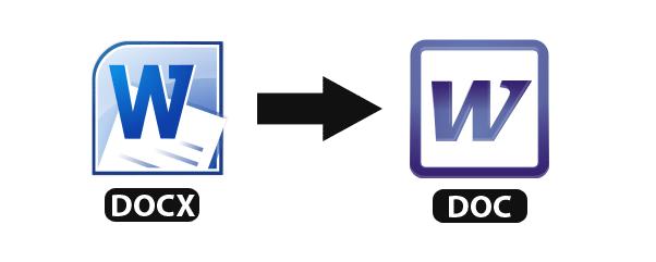 طريقة تحويل ملفات وورد docx إلى doc