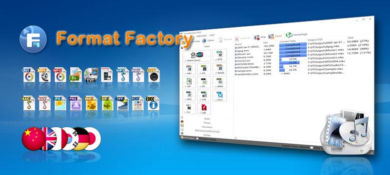 تحميل برنامج Format Factory فورمات فاكتوري لتحويل صيغ الفيديو والصور
