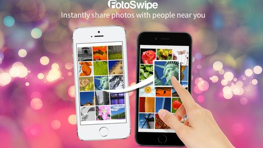 تطبيق FotoSwipe نقل الصور بسحبها بين الايفون والاندرويد