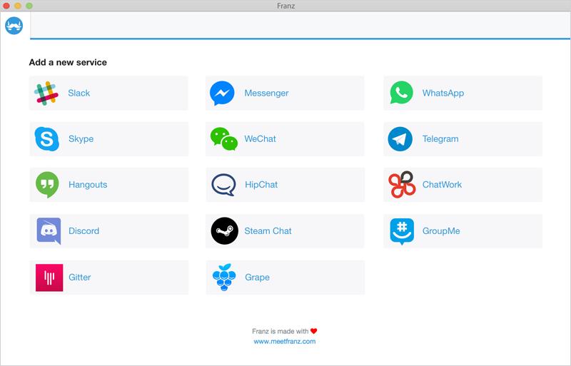 برنامج Franz تشغيل حسابات المواقع الاجتماعية على كمبيوترك