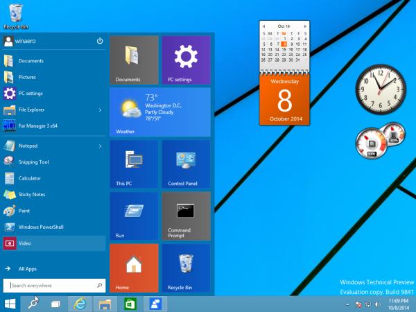 تحميل برنامج gadgets لويندوز 10