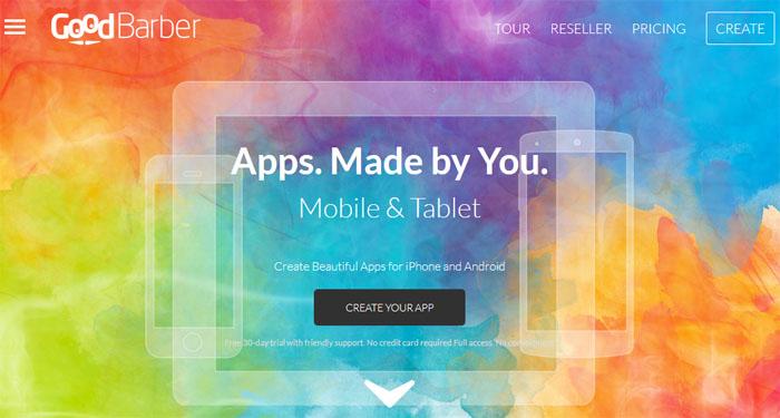 خدمة Goodbarber انشاء تطبيقك الخاص بكل سهولة