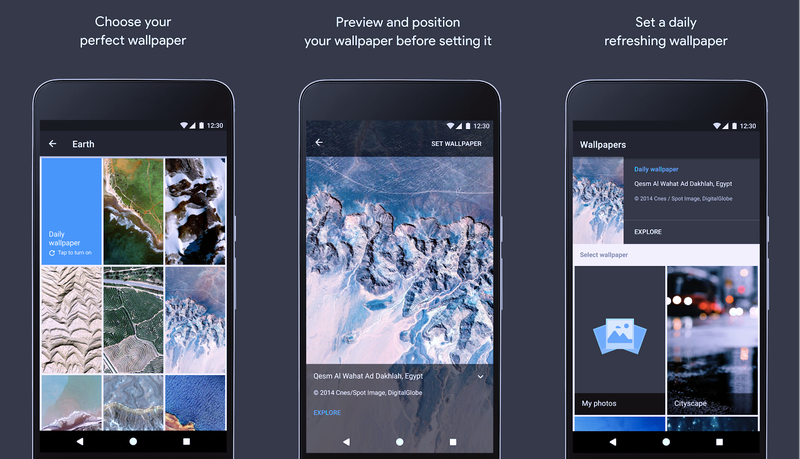تطبيق الخلفيات Google Wallpapers من قوقل