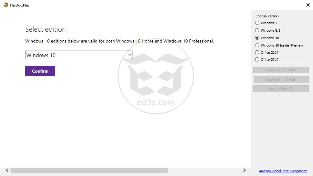 اداة HeiDoc لتحميل نسخة اوفيس وويندوز ايضاً