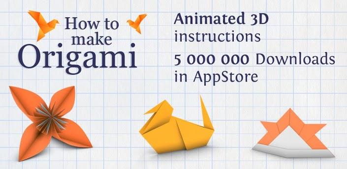 تطبيق How to Make Origami كيف تصنع اشكال من الورق