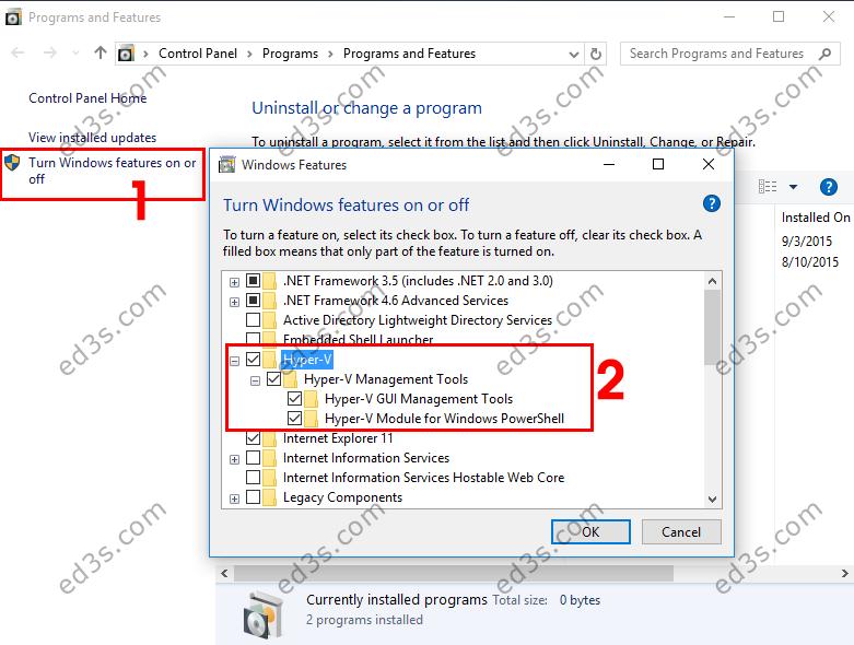 Hyper-V كيفية تثبيت نظام وهمي بدون برامج في ويندوز 10