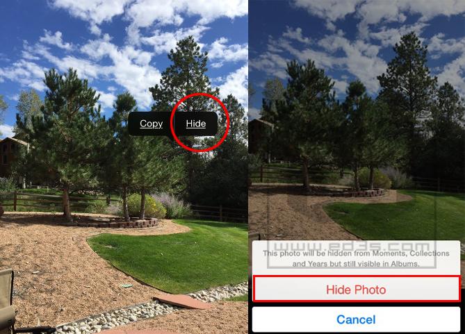 كيف تخفي الصور في الايفون والايباد iOS 8