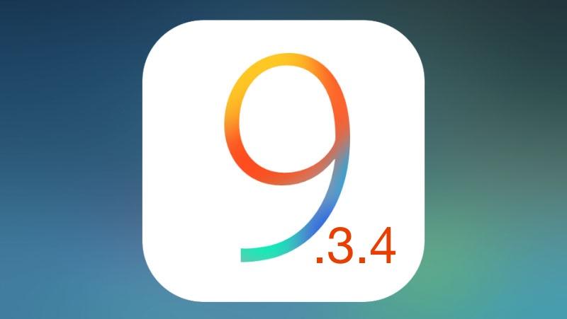 تحميل iOS 9.3.4 للايفون والايباد والايبود