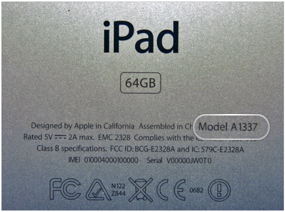 iPhone iPad iPod model Number
