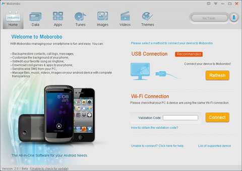 برنامج Moborobo لادارة هاتفك الاندرويد من ويندوز