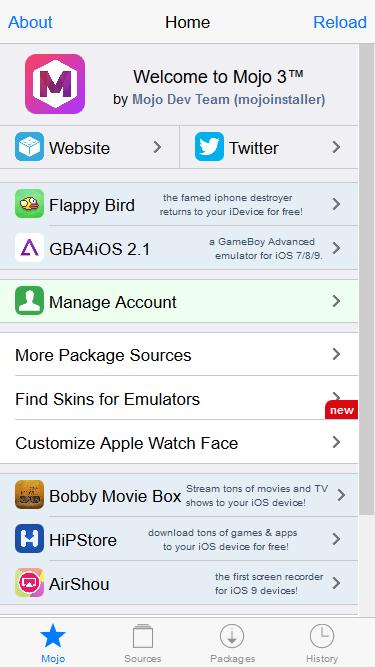 متجر Mojo تحميل التطبيقات والالعاب للايفون بدون جلبريك