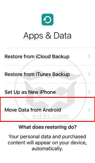 تطبيق Move to iOS نقل البيانات من اندرويد الى ايفون
