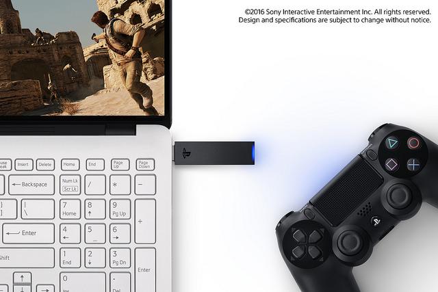 سوني تطرح محول لاسلكي لتوصيل يد تحكم PS4 بالكمبيوتر