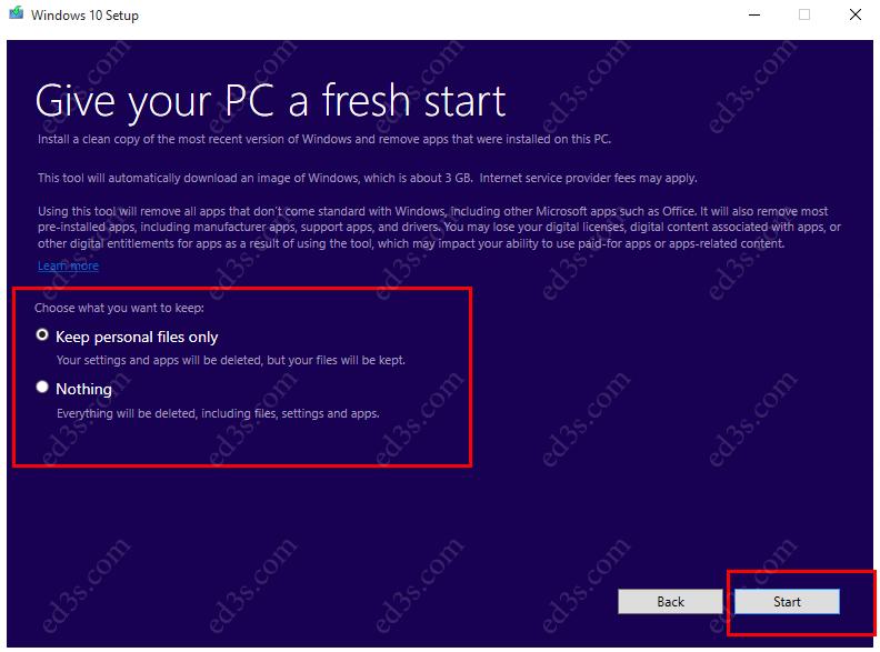 اداة Refresh Windows Tool اعادة تثبيت ويندوز 10