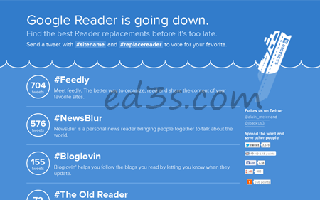 اكثر من 50 بديل لقوقل ريدر Google Reader