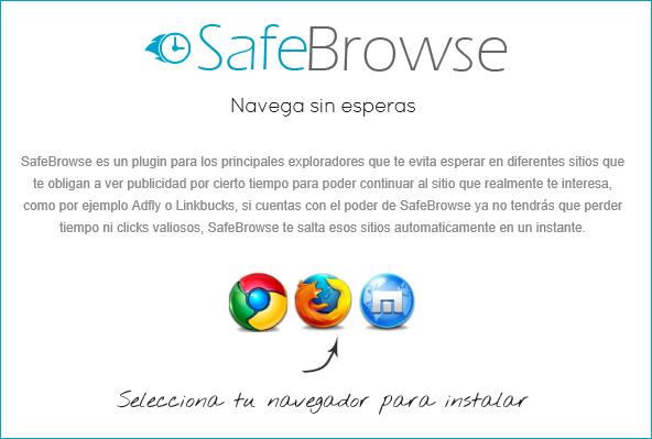 SafeBrowse التخلص من روابط الاعلانات المزعجة Adf.ly Short.st