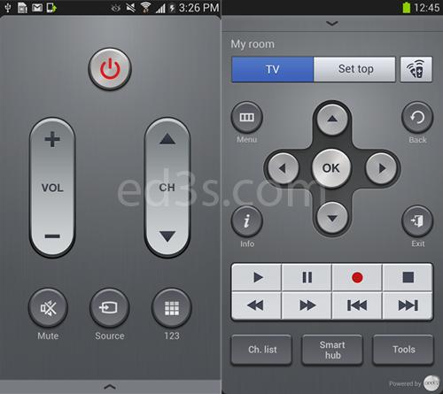 كيف تتحكم بأجهزة التلفزيون وDVD بواسطة الجالكسي اس4