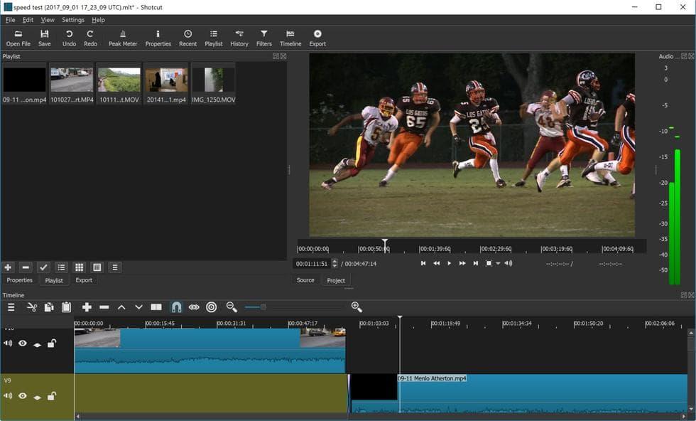 برنامج Shotcut محرر فيديو مجاني