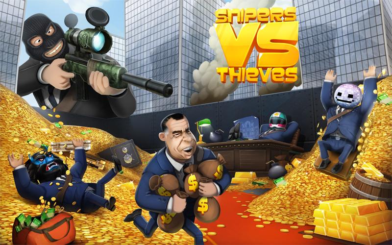 تثبيت لعبة القناصين واللصوص Snipers vs Thieves للاندرويد والايفون