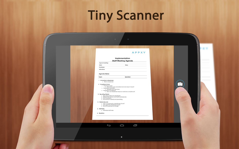 تطبيق Tiny Scanner تصوير المستندات بهاتفك PDF