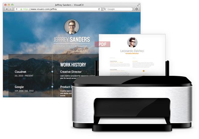 موقع Visual CV لانشاء سيرة ذاتية ونشرها