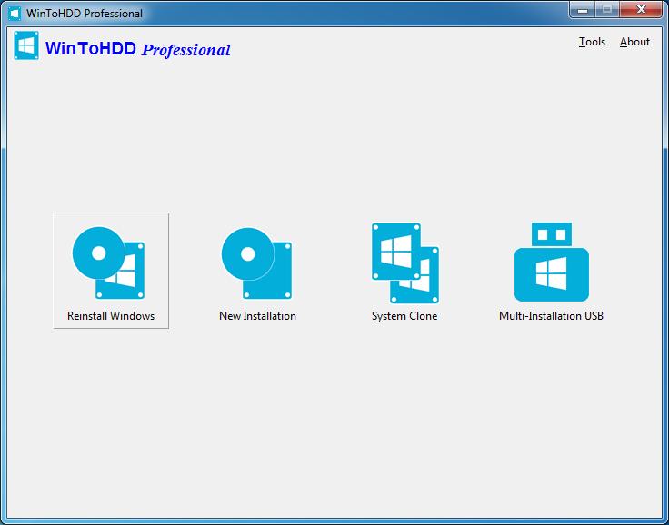 برنامج WinToHDD لاعادة تثبيت ويندوز بدون فلاش او اسطوانه