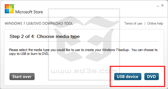 برنامج Windows 7 USB/DVD Download Tool حرق ويندوز 8 على فلاش