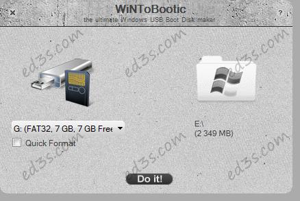 WinToBootic طريقة تثبيت ويندوز عن طريق الفلاش USB