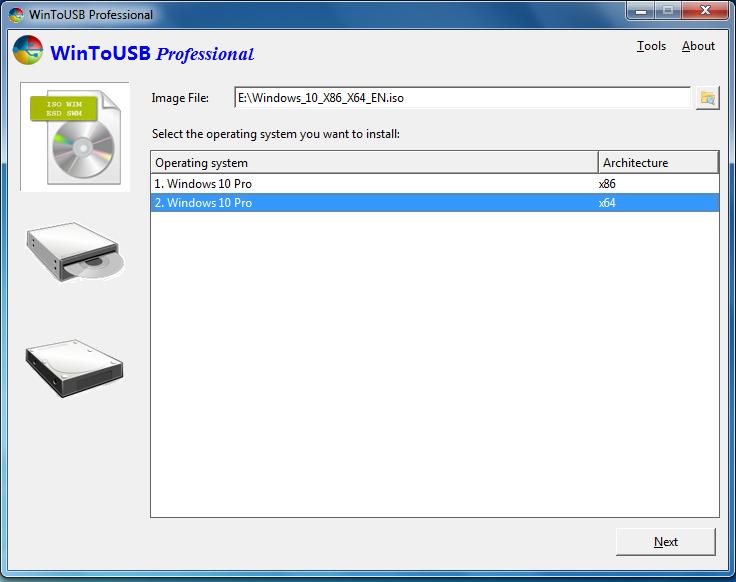 برنامج Win to USB تثبيت ويندوز 10 على فلاش