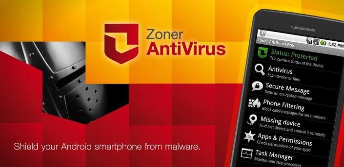 Zoner AntiVirus تطبيق لحماية الاندرويد من الفيروسات