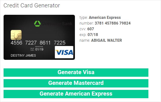 كيفية الحصول على بطاقة فيزا Credit Card وهمية