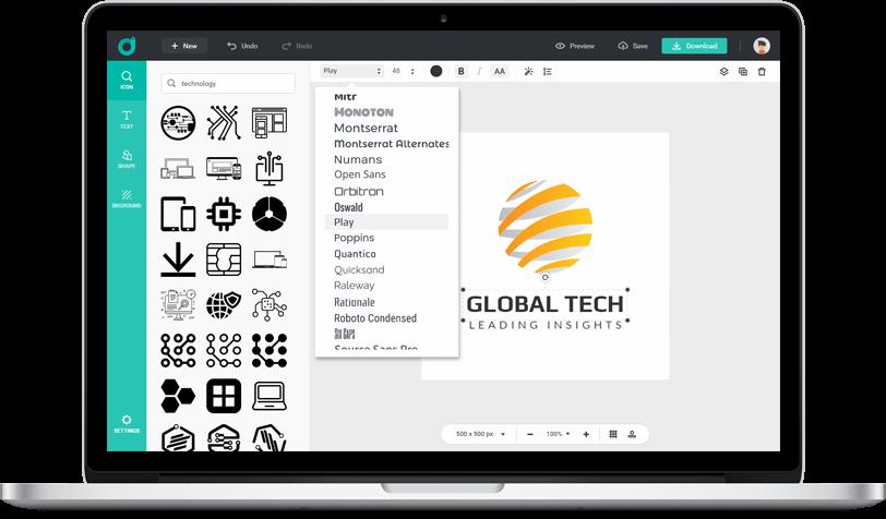 DesignEvo صانع الشعارات المميز على الانترنت
