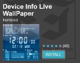 Photo of تطبيق الخلفية الحية Device Info Live Wallpaper