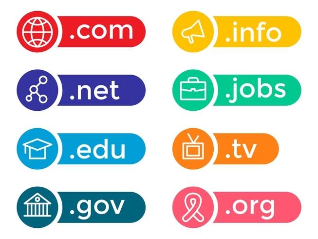 النطاقات والفرق بين كل منها com net gov org info edu