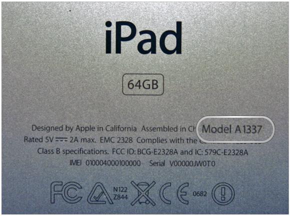 iPhone iPad iPod model Number