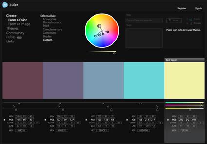 Photo of Kuler لاختيار الألوان المتناسقة