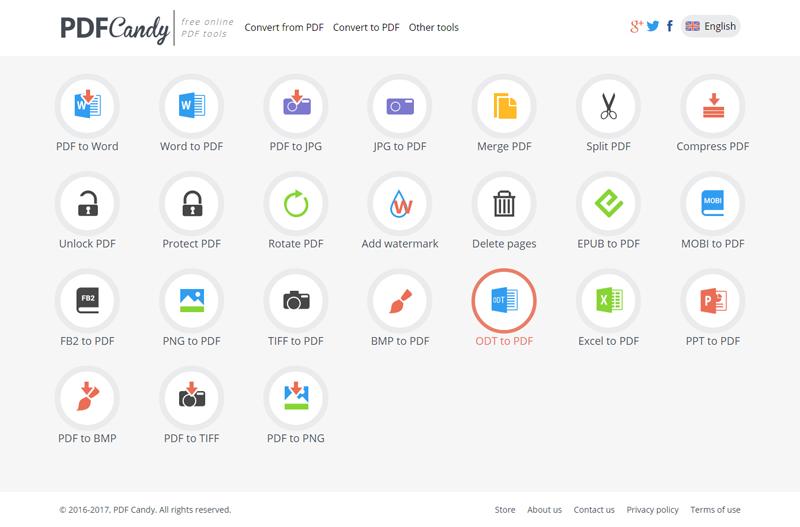خدمة PDFCandy تحويل من والى PDF والمزيد من الخدمات