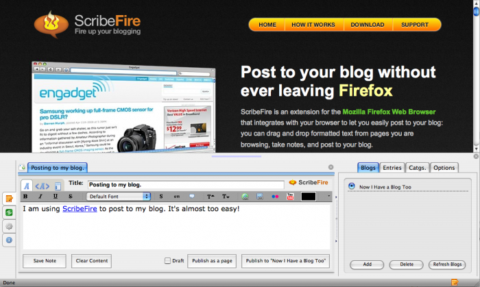 Photo of فايرفوكس : اضافة ScribeFire لنشر تدويناتك