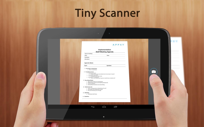 Photo of تطبيق Tiny Scanner تصوير المستندات بهاتفك PDF