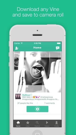 Vine Downloader تحميل الفيديو من Vine على جوالك