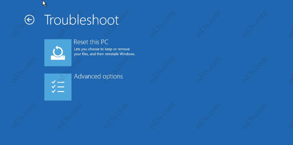 Windows 10 - Troubleshoot